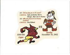 November 16, 2003 Cleveland Browns vs Arizona Cardinals 1960 Era Logos Board