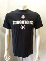 Toronto FC Adidas MLS Soccer Tee Men's Medium Black Crew Neck Graphic T Shirt