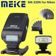 Meike MK-320 Swivel E-TTL TTL Flash Speedlite With LED Video Light For Nikon