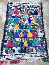 Vintage moroccan boucherouite  Rag rug 170 x 107cm