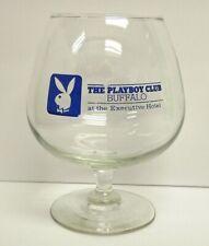 THE PLAYBOY CLUB BUFFALO NY 1980S BLUE 20oz COGNAC / BRANDY SNIFTER