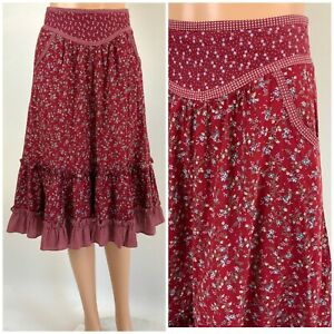 80s pink poly cotton full skirt size 11  12 Requirements made in USA