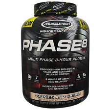 MUSCLETECH PHASE 8 PROTEIN Cookies and Cream WHEY CASEIN 2090g FREE TRACKED POST