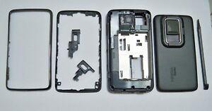 Black Housing faceplate Cover Facia Fascia for nokia N900 case with Stylus