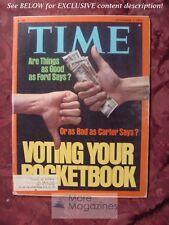 TIME November 1 1976 11/01/1976 Nov 76 FORD CARTER ELECTION