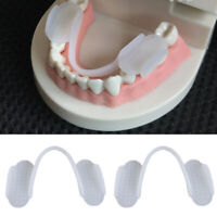 NE_ 2Pcs Silicone Teeth Grinding Dental Night Protectors Guard Anti-molar Braces