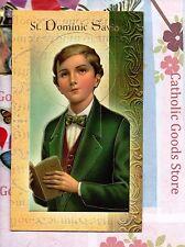 Saint St. Dominic Savio - Biography, prayer, Feast Day, etc... Folder Card