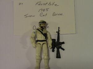 GI Joe Action Figure 1985 Frostbite Snow Cat Driver