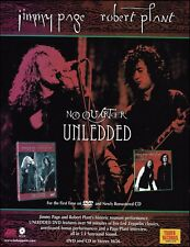Led Zeppelin Jimmy Page Robert Plant 2004 No Quarter Unledded 8 x 11 ad print