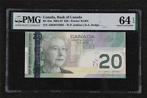 2004-07 Canada Bank of Canada BC-64a 20 Dollars PMG 64 EPQ Choice UNC