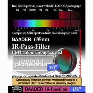 """Baader Planetarium 1.25"""" IR-Pass Filter (685nm) # FIRP-1  2458385"""