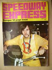SPEEDWAY EXPRESS RIVISTA-PARAURTI 52 pagina questione CON COVER POSTERIORE Boston MAGGIO 1972