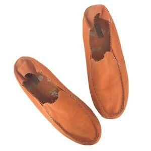 OLUKAI Nohea Canvas Women's Size 9.5 Orange Slip On Loafer Shoes