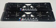 2x European License Number Plate Frame Holder For BMW M PERFORMANCE