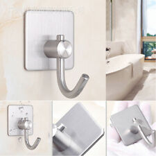 Wall Door Stainless Steel Seamless Self-Adhesive Sticky Hanger Holder Hooks B