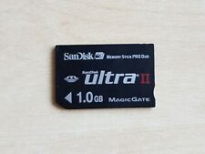 Official SanDisk Ultra II Memory Stick Pro Duo 1GB Genuine Black Card 1.0 gb PSP