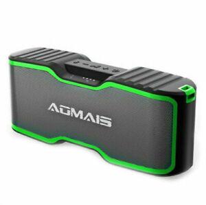 AOMAIS Sport II: Waterproof Portable Wireless Speaker, Recharge Bluetooth Green