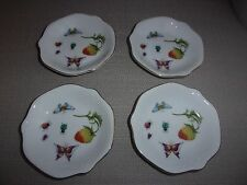 VINTAGE SET OF 4 ARDALT JAPAN BUTTERFLY/FRUIT 4 INCH PLATES