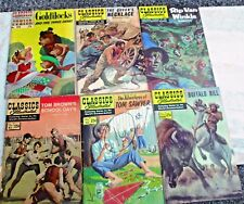 Classics Illustrated 25 Cent Tom Sawyer Buffalo Bill Goldilocks & Three Bears