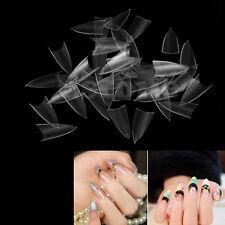 500Pcs Transparent Stiletto Point French Acrylic UV Gel False Nail Tips