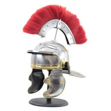 Roman Centurion Officer Helmet with Red Plume Armor SCA Adult Size Brand New