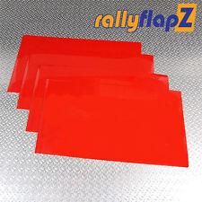 rallyflapZ UNIVERSAL Size Mudflaps Mud Flaps x 4 (500mm x 300mm) Red 3mm PVC