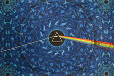 3-D Pink Floyd Dark Side Lyric Blue Tapestry Free Glasses Ships Free 73103