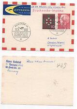 1965 GERMANY Flight Cover MÜNCHEN to LONDON GB LH226 Lufthansa SG1342/5 Postcard