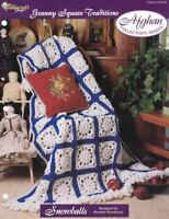 Snowballs Granny Square Traditions Afghan Pattern The Needlecraft Shop TNS