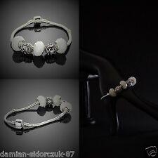 925 Silber plated Armband mit Charms Beads Bettelarmband Swarovski Element CA16
