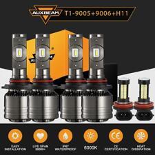 AUXBEAM 9005+9006+H11 LED Headlight Bulb 6000K for GMC Sierra 1500 2500 HD 01-06