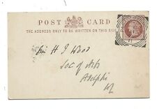 Postal Stationery ½d Squared circle cancel PADDINGTON W 1894 to Adelphi Theatre