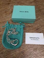 Tiffany Elsa Peretti Apertura Cuore Ciondolo Collana, Cuore 28mm di larghezza, catena 40 cm