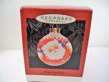 Vintage Hallmark Mary Engelbreit '95 Christmas Tree Ornament Santa Usa Glass