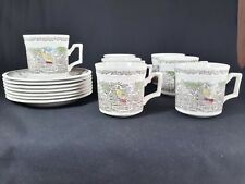 Kensington Staffords Shakespeare's Sonnets Set of 7 Cups and Saucers (Faults)