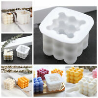 3D Plaster Wax Aromatherapy DIY Craft Clay Tools Soap Cube Handmade Candle Mold
