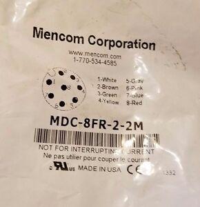 Mencom Corporation MDC-8FR-2-2M Receptacle, 8 Pole, Female Straight, 2M, 24awg