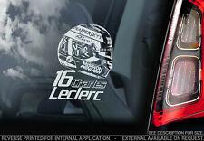 Charles Leclerc #16 - Car Window Sticker - Ferrari Formula 1 F1 Decal Sign - V02
