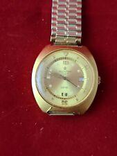 Wristwatch Vintage Aquastar Seatimer Ref. 1007 Caliber AS 1009 gold tone