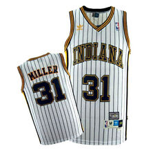 Reggie Miller  31 Indiana Pacers Men s White Hardwood Classics Throwback  Jersey 4f7e650cf