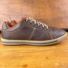 Crocs Evercourt Leather Lace Up Low Top Men's Sneakers Size 9 Espresso/Khaki