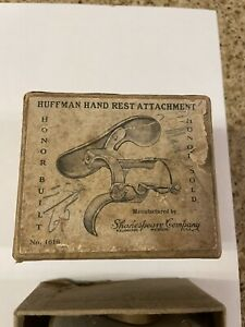 Scarce Shakespeare / Huffman Hand Rest Reel Attachment In Box / Rare Fine Here !