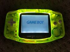 Nintendo Game Boy Advance GBA Handheld System Lumo Yellow -FRONTLIGHT mod-