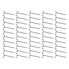 "50 Pc GLOSS BLACK 8"" Long Gridwall Hooks Grid Panel Display Wire Metal Hanger"