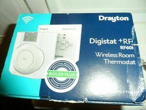 Drayton® Digistat RF601 +RF Wireless Room Thermostat Digistat & RF Boiler + NEW