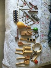 More details for bundle wooden percussion instruments triangle bells tambourine maracas shakers