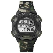 Timex Originals T49976 Mens Camo Expedition Base Shock Chronograph Watch £59.99