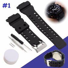 Watch Strap Band & Pins For Casio G Shock 16mm GA-100 G-8900 GW-8900
