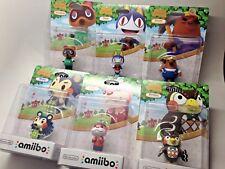 Nintendo Amiibo AC Character Tom Nook, Rover, Resetti, Mabel, Lottie, & Blathers