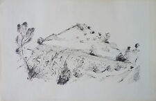 Roger CRUSAT (1917-1994) Dessin Drawning Les Alpilles Provence Jeune Peinture